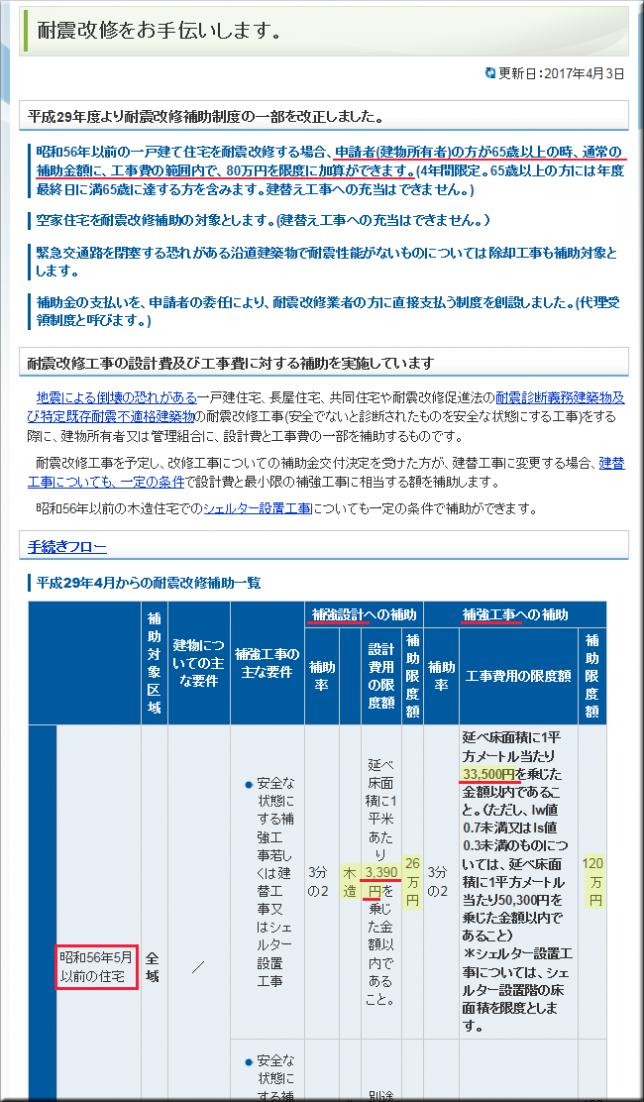 大阪府堺市の耐震改修ページ