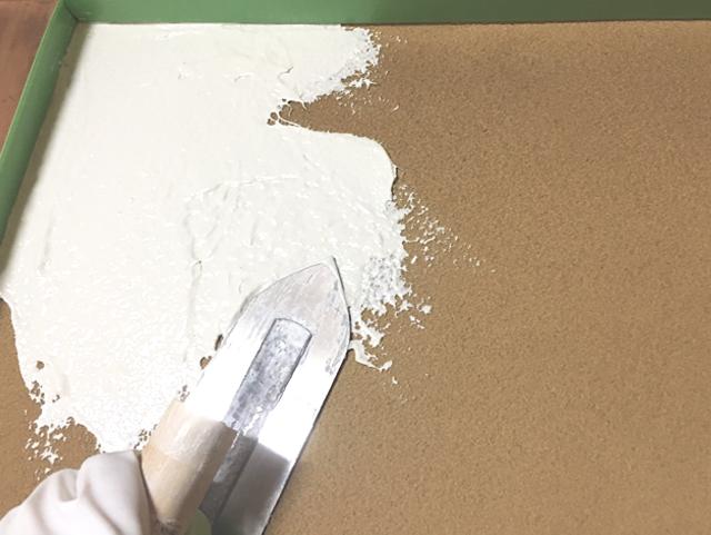 練り済み漆喰だから直ぐに施工可能