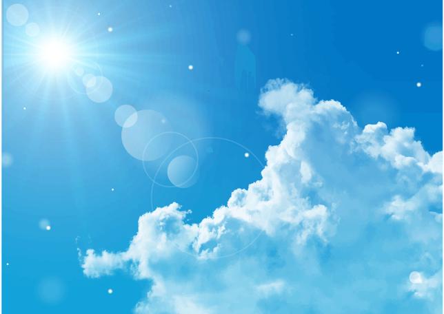 紫外線が強い青空